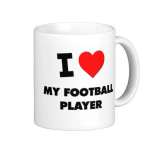 love My Football Player Mug