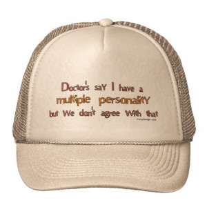 Multiple Personality Humor Hats