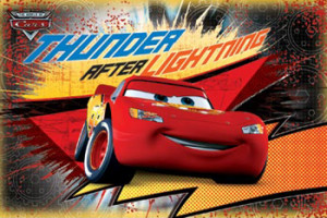 Disney-Pixar Cars THUNDER AFTER LIGHTNING McQueen Poster - Trends ...