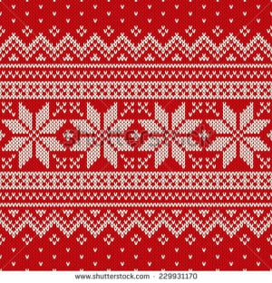 red and white christmas sweater background