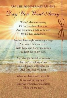 On the Anniversary of the day you went away More