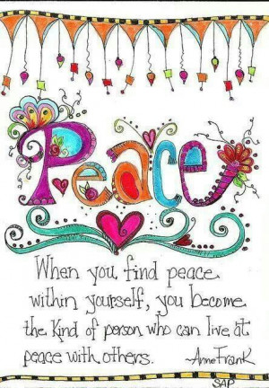 Finding peace within yourself