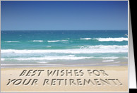 Tropical beach - retirement best wishes card - Product #168465