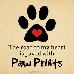 to my heart is paved with paw prints! #paws #prints #pawprints #heart ...
