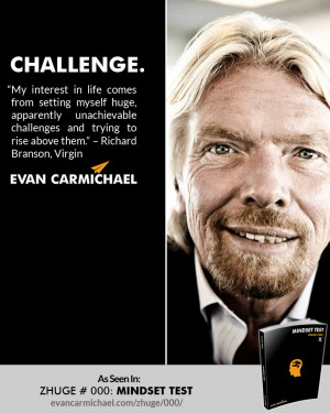 """... and trying to rise above them."""" – Richard Branson #Believe"""