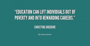 Quotes About Education And Poverty