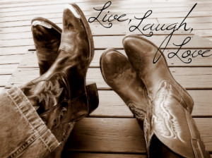 All Graphics » cowboy boots love