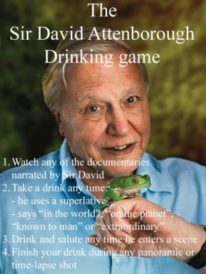 The Sir David Attenborough Drinking Game