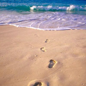 Footprints Heart Quote Pic #22