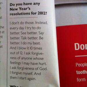 Maya Angelou on resolutions.