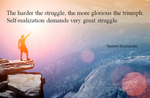 Recovery #quote about triumph by #Savananda The harder the struggle ...