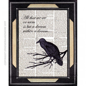 NEVERMORE Raven Poe Quote