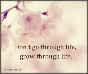 Life Quotes – Don't go through life, grow through life.