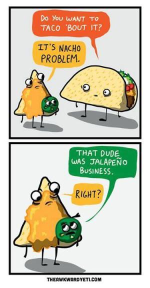 Funny taco cartoon