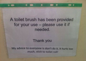 You're Using The Toilet Brush Wrong