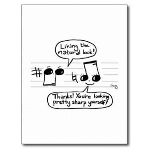 Musical Humour Cartoon Postcard