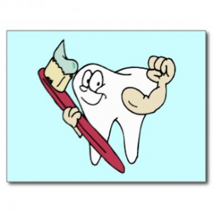 Tooth Hero and Toothbrush - Dental Dentist Hygienist Cards and Gifts