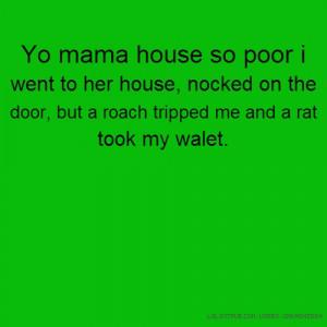 Yo Mama so Poor Jokes