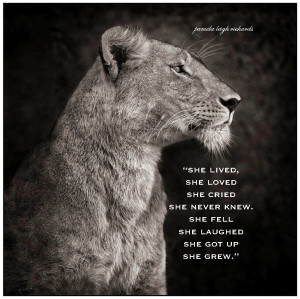 Lioness Pamela quote 1