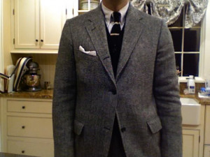 Yet another frigid day in Michigan, so yet another tweed jacket.