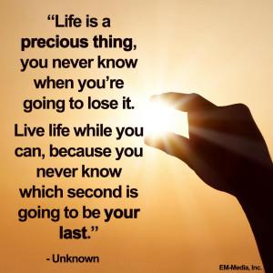 Quote - Life is Precious by rabidbribri
