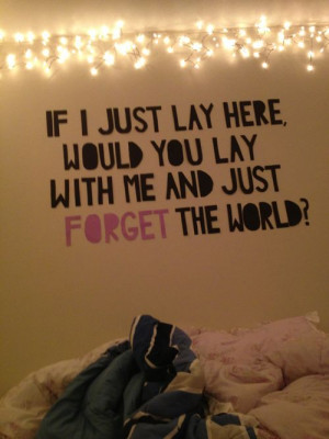 quotes for the bedroom | quote chasing cars snow patrol bedroom wall ...