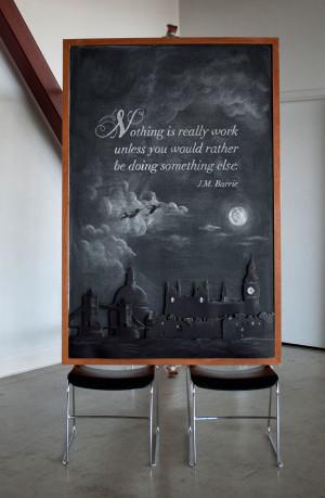 ... Designers #DangerDust Create Elaborate Quote Art on Chalkboards