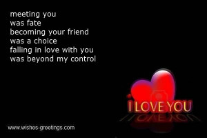 Meeting You Was Fate Becoming Your Friend Was A Choice Falling In Love ...