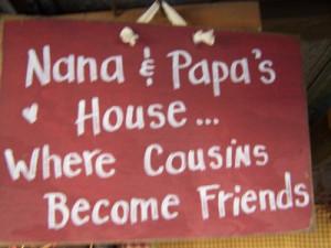 ss 53 nana and papa s house where cousins become friends sign nana ...