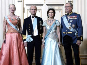 Queen Margrethe of Denmark, King Carl XVI Gustaf and Queen Silvia of ...