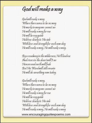 Encouraging quote poem Card