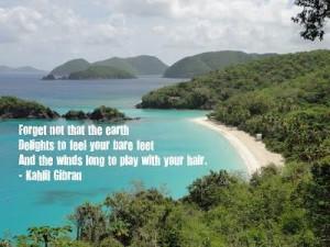 Beautiful quote and beautiful Island (St. John).