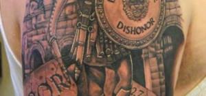 ... men warrior dragon greek quote tattoo 550 x 413 warrior quotes tattoos