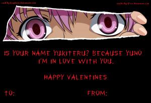 Mirai Nikki] Yuno Gasai Valentines Card by Euphism