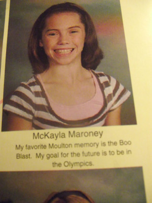 ... her elementary school yearbook quote. She's always wanted it