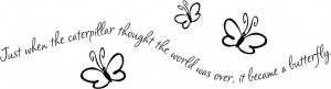Caterpillar-Butterfly-Vinyl-Decal-Stickers-Wall-Lettering-Quote-Words ...