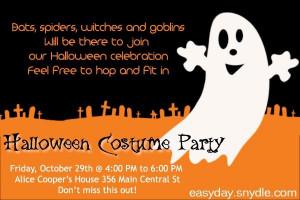 Halloween Party Invitation Wording