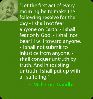 Daily Positive Thoughts – Quote from Mahatma Gandhi