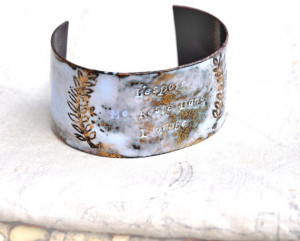Handcrafted Jewelry - French 'STORM' Quote Cuff - Poets & Madmen ...