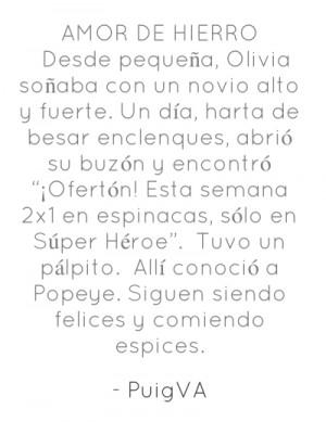 AMOR DE HIERRO Desde pequeña, Olivia soñaba con un novio