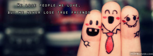 True Friends quotes facebook cover photo