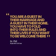 Godbersen: You are a guest in their marriage and a guest in their home ...