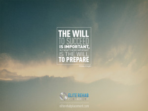 The will to succeed is important, but whats more important is the will ...