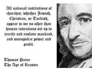 ... mankind - thomas paine, church, founding fathers, quotes, enslavement