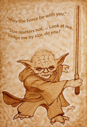 Jedi Yoda Quotes Original Beer Painting Painting