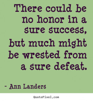 ann landers success quote wall art make your own success quote image