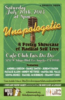 Unapologetic! A Poetry Showcase of Radical Self Love. Andrea Gibson ...