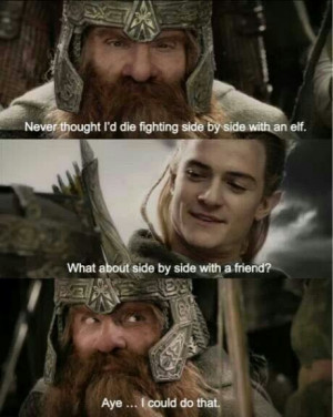 Legolas Fights Along Side Gimli In Lord Of The Rings The Return Of The ...