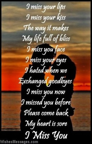 miss you this morning i missing you poems for him quote poems or songs