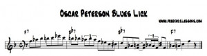 Oscar Peterson Blues Piano LIck